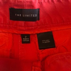 The Limited Shorts - The Limited coral orange shorts